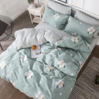 纯棉小清新床单四件套被套田园风全棉1.8m床上用品三件套床笠定制