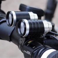 自行车灯 自行车前灯配件头灯山地车头灯两用亮度超T6