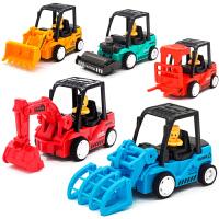 玩具挖掘机 宝宝玩具车男孩儿童回力车惯性小汽车工程车挖掘机推土挖土机套装 惯性工程车【5只装】 【颜色随机】