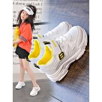女童鞋子夏镂空春款儿童运动鞋网面女孩白鞋男童网鞋