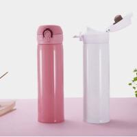 简约保温杯学生男女便携不锈钢创意可爱大容量直身情侣杯礼盒包装