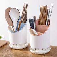 泰蜜熊家用厨房筷子筒沥水餐具收纳盒防霉置物架托快子勺笼子桶塑料筷篓