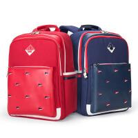 卡拉羊书包小学生男-3-5年级减负护脊背包英伦风校园儿童双肩包CX275