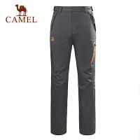 【1件3折 到手价:199】camel骆驼户外新款冲锋裤 女士防风耐磨徒步冲锋裤
