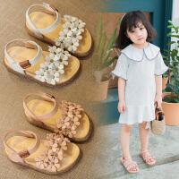 真皮女童凉鞋1-3岁小孩防滑软底沙滩鞋女公主鞋透气童鞋7