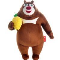 熊大熊二毛绒玩具套装 新款熊出没公仔娃娃玩偶 儿童圣诞礼物 手拿蜂巢熊大(新款) 高38厘米