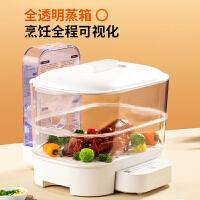 九阳折叠电蒸锅多功能家用透明蒸箱蒸汽笼大容量多层蒸菜馒头DZ01