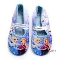 春秋款女童舞蹈鞋公主女孩防滑冰雪奇缘宝宝幼儿园家居室内地板鞋 冰雪奇缘