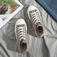 201ns超火的鞋子百搭帆布鞋女学生板鞋原宿ulzzang格子鞋