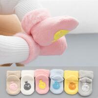 秋冬季婴儿袜子加厚保暖加绒松口不勒脚新生儿童宝宝袜0-1岁