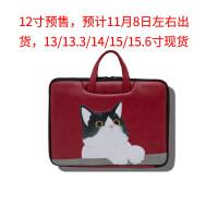 苹果小米戴尔惠普电脑包女手提包可爱小清新文艺14寸.6笔记本袋 CAT