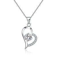 生日礼物送女友925银项链女日韩简约时尚心形吊坠短款锁骨