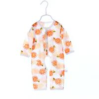 婴儿衣服夏季薄款长袖空调服新生儿竹纤维透气0-3个月6宝宝哈衣