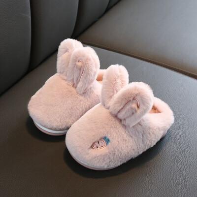儿童棉拖鞋冬男女童宝宝保暖包跟棉鞋小孩室内防滑居家亲子拖鞋子