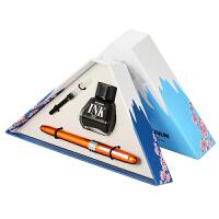 日本进口Platinum白金富士山日夜盒绘 PGB-1000#25桔杆/金属彩色钢笔礼品万年笔学生书写练字金笔墨水墨囊