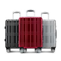 【每满100减50】卡拉羊拉杆箱铝框旅行箱20��24�即笕萘糠苫�登机防摔防刮行李箱CX8629