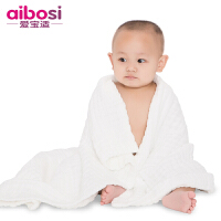 爱宝适 婴儿浴巾毛巾全棉纱布宝宝浴巾盖毯10层厚