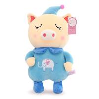 贝贝鸭创意新款可爱小丑猪毛绒玩具羽绒棉猪玩偶公仔生日礼物