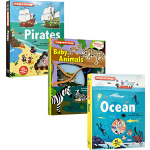 Twirl 英文原版 Magnetology系列 4册磁铁书操作书 Ocean/Pirates/Baby Animal