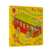 【现货】英文原版 巴士轮 The Wheels on the Bus 小开本纸板洞洞书无音频 Child's Play系