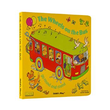 【现货】英文原版 巴士轮 The Wheels on the Bus 小开本纸板洞洞书无音频 Child's Play系列 廖彩杏书单推荐 国营尽快!品质保证!1-3岁适读