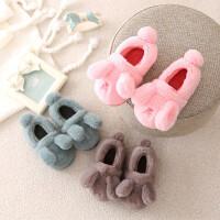儿童棉拖鞋包跟男孩可爱卡通中大童冬天小公主保暖防滑毛1-3岁女