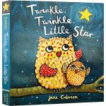 英文原版绘本 0 2 3岁 Twinkle Twinle Little Star 纸板书 韵文童谣 婴幼儿早教绘本图画