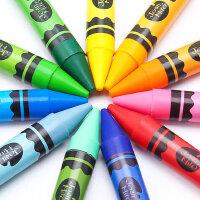 美乐蜡笔儿童安全无毒可水洗宝宝画笔套装幼儿园36色24色小学生幼儿绘画开学用品涂鸦笔彩笔水溶性油画棒蜡笔