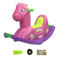 儿童摇马男带音乐木马玩具 摇摇马塑料1-6岁幼儿园小孩摇木马