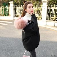 女中长款2018冬季新款女装韩版宽松bf外套棉袄棉衣百搭面包服