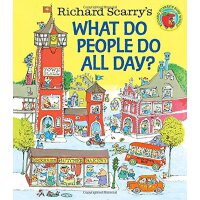 【现货】英文原版儿童书 Richard Scarry's What Do People Do All Day? 理查德