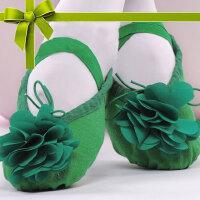 舞舞蹈鞋儿童女软底练功孩子形体幼儿跳舞猫爪男白女童芭蕾舞鞋