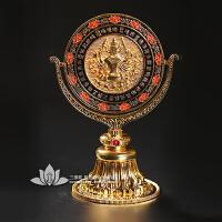 藏传佛教用品准提镜准提佛母咒准提菩萨纯铜尼泊尔准提镜吉祥摆件 准提镜