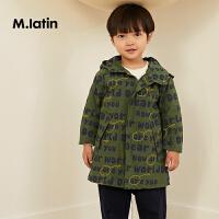【6折价:209.4元】马拉丁童装男小童风衣秋装新款洋气迷彩图案外套时尚连帽夹克