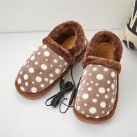 电暖鞋充电可行走 发热鞋加热鞋插电暖脚宝保暖脚女暖宝宝