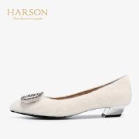 【 限时4折】哈森 2019秋季新款时尚仙女风平底单鞋女HL91426