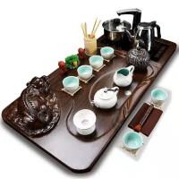 白瓷水滴招财貔貅四合一套装紫砂功夫茶具套装整套家用茶壶茶杯实功夫茶具套装