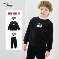 【今日3折�A估�r:88.5元】迪士尼男童加�q套�b2020秋冬新款�����和�洋�饷灼�杉�套童�b潮