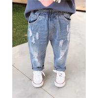 童装男童裤子宝宝长裤春季中小童破洞牛仔裤