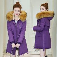 女女冬装连帽反季中长款加绒风衣加厚外套工装棉衣