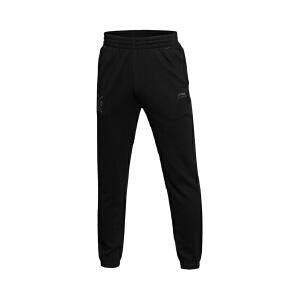 李宁卫裤男士运动生活系列长裤收口针织运动裤AKLK815