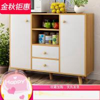 现代简约餐边柜多功能储物柜子带门北欧简易厨房经济型碗柜茶水柜3qk