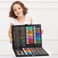 儿童画笔套装绘画水彩笔小学生画画工具文具美术小女孩过新年礼物 黑色 168件画本礼袋
