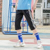 儿童夏季运动裤男童中裤女童速干裤中大童2019夏装新款童装