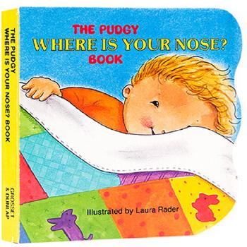 英文原版绘本 Where Is Your Nose? 你的鼻子在哪里 亲子儿童绘本 五感启蒙教育 睡前晚安童谣儿童歌曲绘本图画书