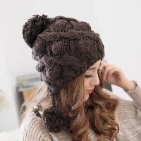 韩版保暖帽子女冬天潮针织毛线帽秋天休闲百搭时尚套头帽秋冬