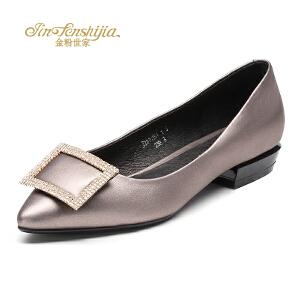 红蜻蜓旗下品牌金粉世家秋冬女鞋秋冬休闲鞋鞋子女单鞋JZB1035