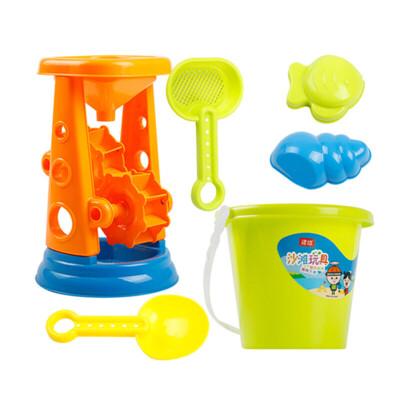 儿童沙滩玩具车套装玩沙子大号挖沙漏铲子婴儿洗澡决明子工具
