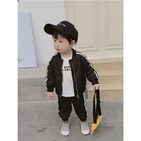 男童运动套装童装男宝宝长袖帅气两件套棒球服外套