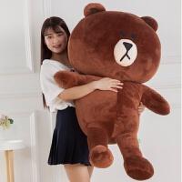 巨型3米4布朗熊公仔2.5特大号毛绒玩具熊超大3.4m布偶娃娃送女友